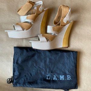 L.A.M.B. Platform Wedges - size 10